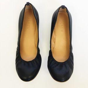 J Crew Anya black leather ballet flat 6